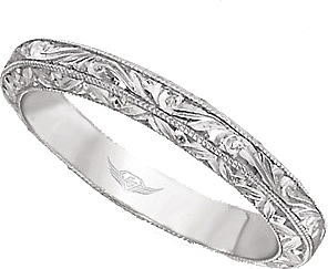 FlyerFit Hand Engraved Wedding Band
