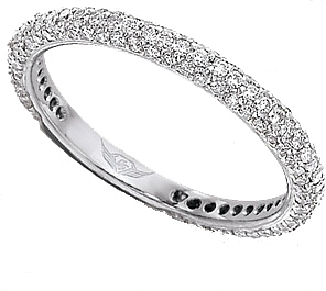FlyerFit Thin Micro-Pave Diamond Band