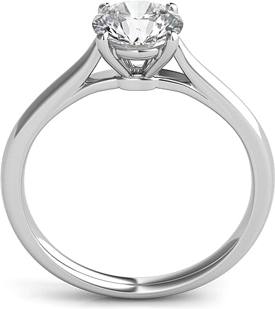 Four Prong Basket Solitaire Diamond Engagement Ring H L Gross