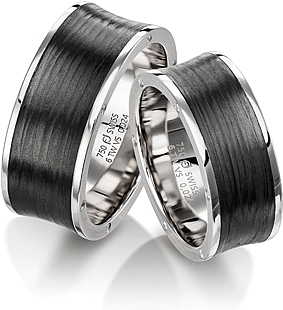 Furrer Jacot Carbon Fiber Wedding Band