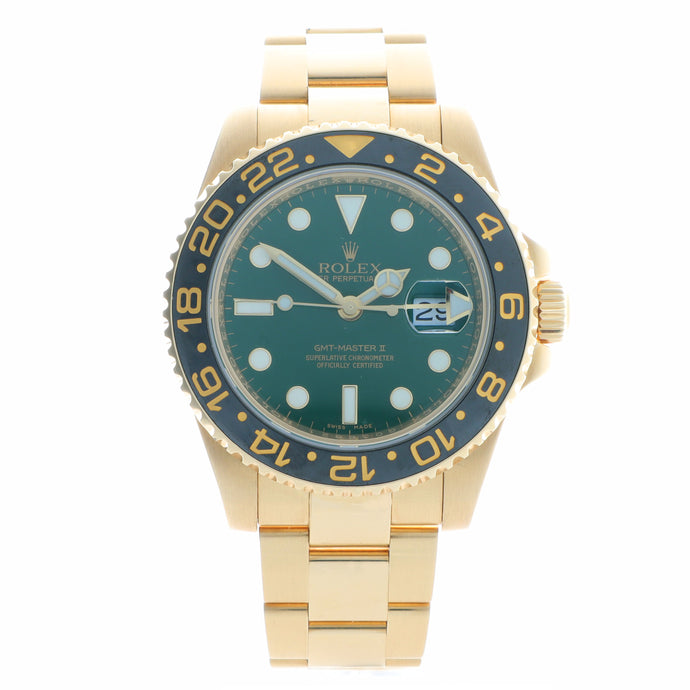 Pre-Owned 18k Yellow Gold Rolex GMT Master II - Model 116718