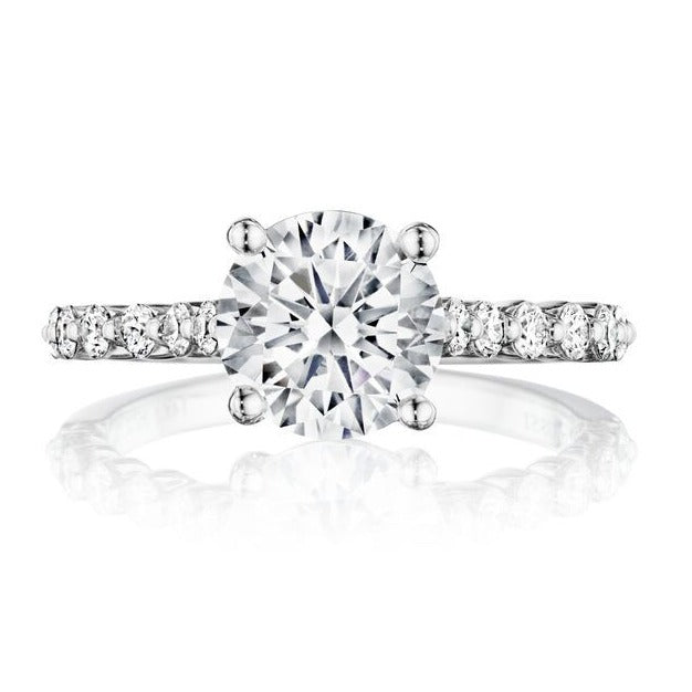 Henri Daussi Prong Set Diamond Engagement Ring