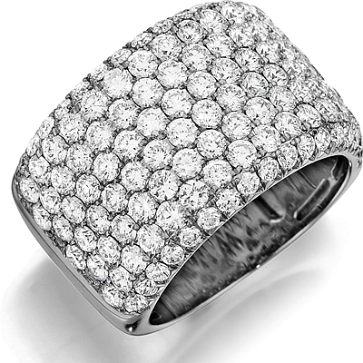 Henri Daussi 8-Row Pave Diamond Band