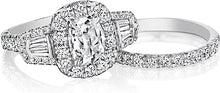 Henri Daussi Baguette Diamond Engagement Ring
