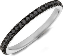 Load image into Gallery viewer, Henri Daussi Black Diamond Pave Band