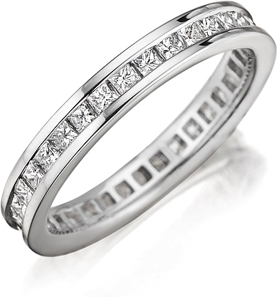 Henri Daussi Channel Set Diamond Wedding Band