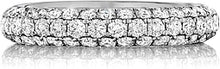 Henri Daussi Domed 3-Row Pave Diamond Band