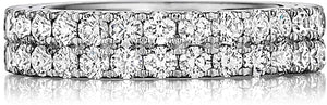 Henri Daussi Double Row Diamond Band