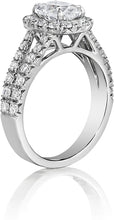 Henri Daussi Double Row Diamond Engagement Ring