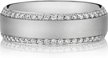 Load image into Gallery viewer, Henri Daussi Men's Diamond Wedding Band- 7mm