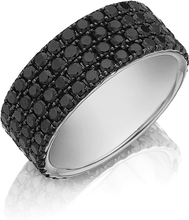 Henri Daussi Men's Diamond Wedding Band- 9mm