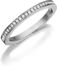Load image into Gallery viewer, Henri Daussi Pave Diamond Band