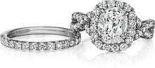 Load image into Gallery viewer, Henri Daussi Pave Twist Diamond Halo Engagement Ring