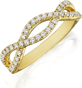 Henri Daussi Pave Twist Diamond Wedding Band