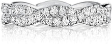 Load image into Gallery viewer, Henri Daussi Pave Twist Diamond Wedding Band