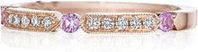 Load image into Gallery viewer, Henri Daussi Pink Sapphire & Diamond Wedding Band