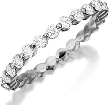Load image into Gallery viewer, Henri Daussi Single Prong Diamond Band
