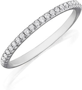 Henri Daussi Straight Pave Diamond Band