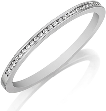 Load image into Gallery viewer, Henri Daussi Thin Channel Set Diamond Wedding Band