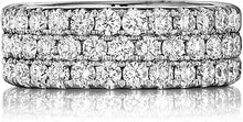 Load image into Gallery viewer, Henri Daussi Triple Row Diamond Band