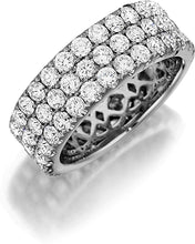 Henri Daussi Triple Row Diamond Band