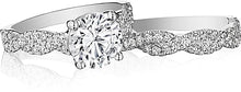 Henri Daussi Twist Shank Diamond Engagement Ring