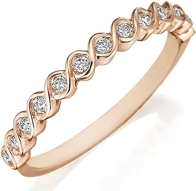 Henri Daussi Twisted Diamond Wedding Band