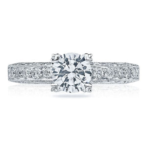 Tacori Engagement Ring with Pave Set Diamonds