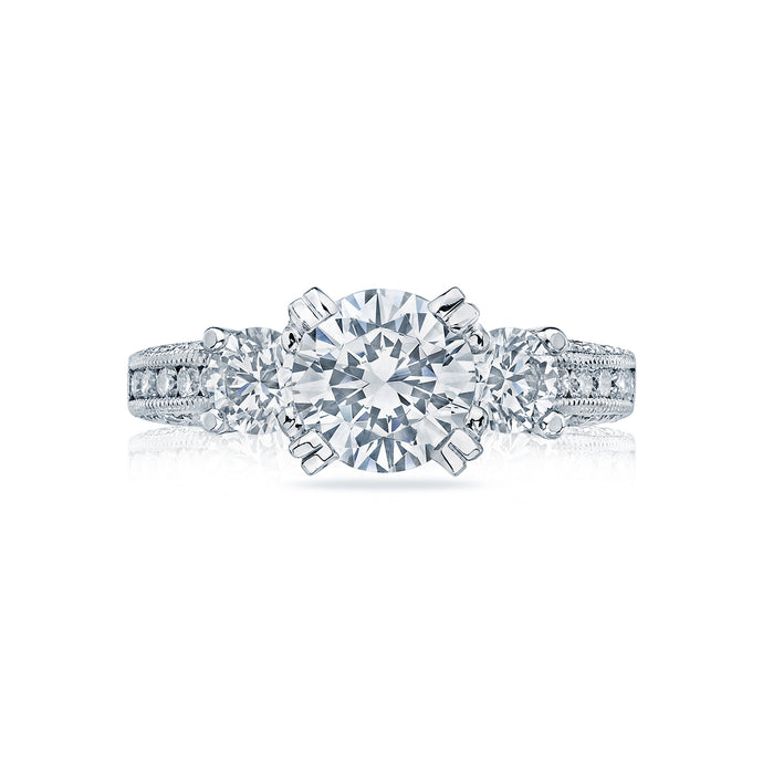 Tacori Engagement Ring with Channel Set Diamonds