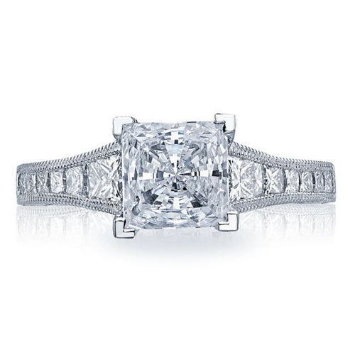 Tacori Channel-Set & Pave Princess Cut Diamond Engagement Ring