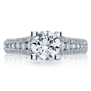 Tacori Graduated Channel-Set Diamond Engagement Ring