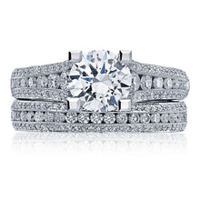Load image into Gallery viewer, Tacori Graduated Channel-Set Diamond Engagement Ring