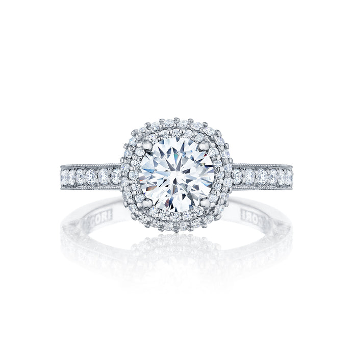 Tacori Cushion Halo Diamond Engagement Ring