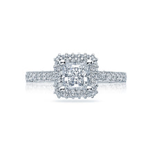 Tacori Double Halo Princess Cut Diamond Engagement Ring