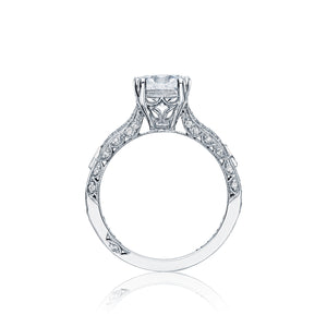 Tacori Pave Ribbon Diamond Engagement Ring