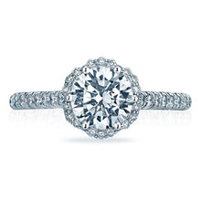 Load image into Gallery viewer, Tacori Gold Pave Halo Diamond Engagement Ring