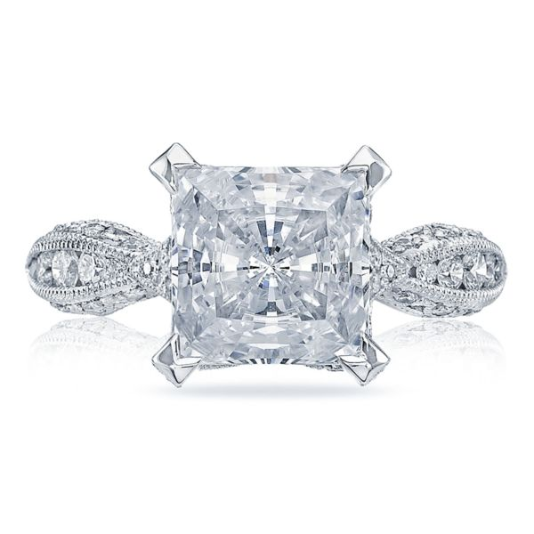 Tacori RoyalT Twist Princess Cut Diamond Engagement Ring