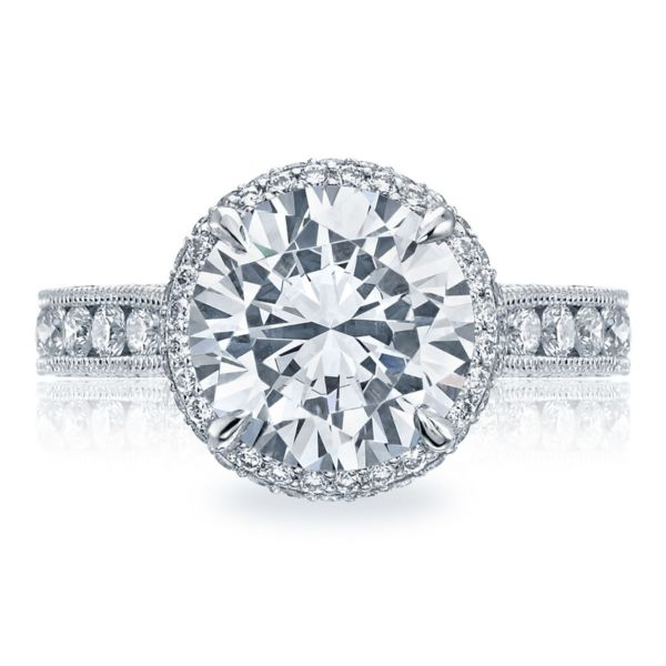 Tacori RoyalT Round Halo Diamond Engagement Ring