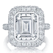 Tacori RoyalT Emerald Cut Diamond Engagement Ring