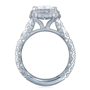 Tacori RoyalT Emerald Cut Diamond Engagement Ring w/ Bloom