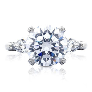 Tacori Royal T Three Stone Diamond Engagement Ring