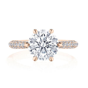 Tacori Pave Set Diamond Engagement Ring