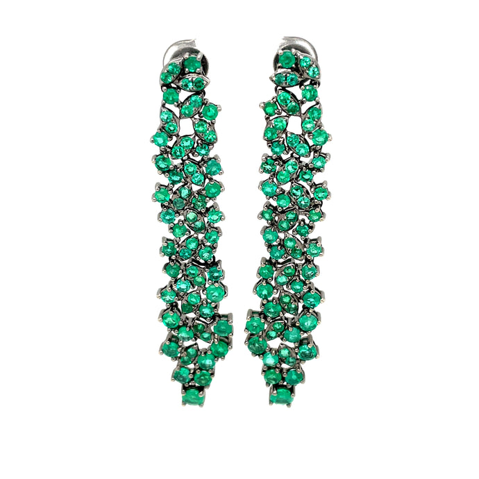7.04ct 18k Emerald Drop Earrings