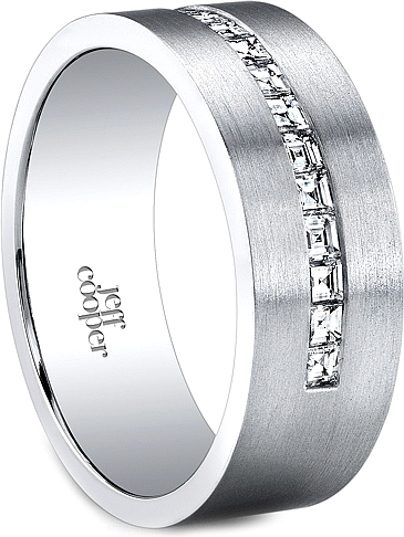 Jeff Cooper Channel Set Diamond Wedding Band-7.5mm