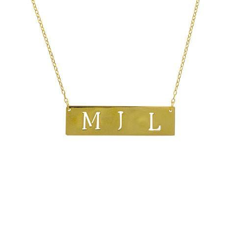 Maya J 14k Yellow Gold Initial Cut Out Pendant