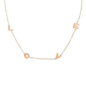 Maya J 14k Rose Gold Love Necklace