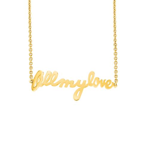 14k Yellow Gold Custom Signature Necklace