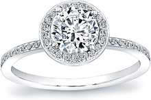 Load image into Gallery viewer, Micro-Pave Diamond Halo Engagement Ring- 1/4ct tw