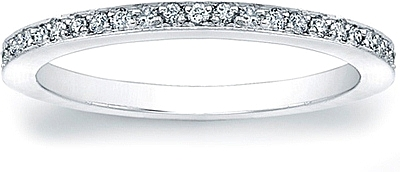 Micro-Pave Set Diamond Wedding Band