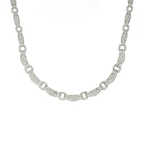 Estate 14k White Gold Diamond Necklace